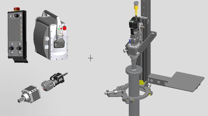 Basisausrüstung zzgl. Baumaschinenlafette  Pfahlfundamentierung